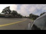 Motorcycle Rider Crashes Hard Into Car Taping Him