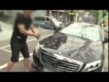 Mercedes-Benz S63 AMG Owner Smashes Car With Golf Club