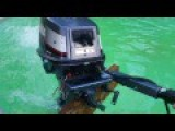 Making A Whirlpool In The Pool With An Outboard Motor!