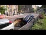 Massive Sinkhole Swallows Family Car On London Street