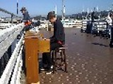 Monterey Street Piano Attracts Musician