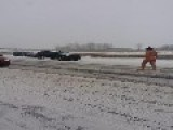 Man Walking Naked On Freeway During Blizzard