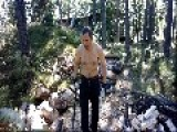 Me Splitting Wood For Sauna