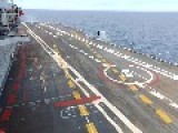 MIG 29KUB Landing On The Indian Aircraft Carrier INS Vikramaditya