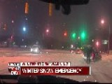 Man Skiing Behind Car Gets Pull Over By Cops On Live TV
