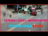 Motorcyclist Escapes Death