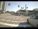 Motorcycle Runs The Red Light