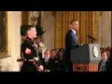 Medal Of Honor Ceremony For Cpl. William Kyle Carpenter At The White House 6 19 14
