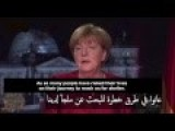 Merkel's New Year Speech Broadcast With Arabic Subtitles For The First Time In Germany