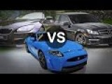 Mercedes C63 AMG Vs BMW M6 Vs Jaguar XKR-S