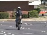 Moto Wheelie Tips Over But Rider Is Proud