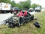 Man Injured, Dog Killed, Lotus Elise Destroyed In Crash