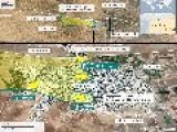 MAP OF KOBANE, SYRIA - 20 OCTOBER