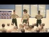 Marine Corps Drill Instructors Meet Recruits For The First Time