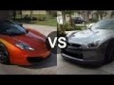 McLaren MP4-12C Vs Nissan GTR Drag Race - Launch Control