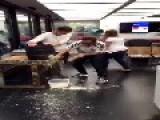 Man Spills Beer Everywhere