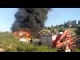 Muslim Terrorist Blows Himself Up In A Israeli Bus - Raw Footage !