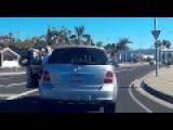 Mercedes Driver Road Rage Gets Instant Karma