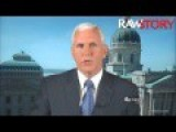 Mike Pense Says His Anti-gay Law Was Just A Misunderstanding