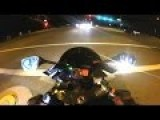 Motorcyclist Runs From Police And Crashes Hard
