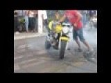 Motorcycle Burnouts, HORNET EXPLODING MOTOR HIGH SPEED