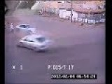 Man Unbelievable Escapes From Accident Between Cars