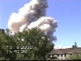 Massive Fireworks Factory Explosion - All Angles