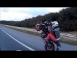Motorcycle Crash While Practicing Wheelies