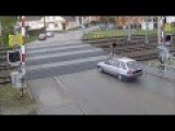 Man Crossing Train Tracks