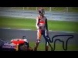 Marc Marquez Crash Out By Rossi