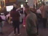 Man Drives Through Crowd Of Columbus Day Protesters - Reno, NV