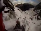 Mountain Ice Climbing Fall POV