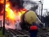 Massive Explosion On Railway