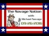 Michael Savage Pulled Off Air While Talking About Hillarys Health!
