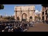 Muslims Make Show Of Force In Front Of The Colosseum In Rome