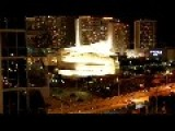 Machine Gun Fire From Military Helicopters Flying Over Downtown Miami Fl