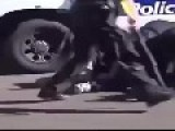 Man Vs Gravity + Police Car = Jail With Epic Back Pains