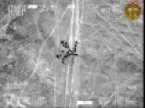 Mi-28 Destroys A Convoy Of Trucks Of Terrorists In The Desert Of Al-Anbar-Iraq