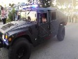Millitary Humvees Being Used As Police Patrole Cars In Florida