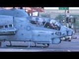 Marine Helicopters Land In The Middle Of Phoenix AZ