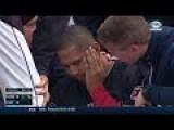 MLB Pitcher Carlos Carrasco Struck In The Face With Line Drive