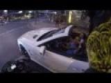 Moron Motorbike Rider Vs Worthless Douchebag Mercedes Cunt!