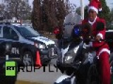 Mexico: Are All Cops Bad? See These Festive Feds Ride 'reindeers'