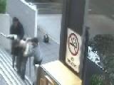 Motorcycle Gang Humiliates Rival Gang Member In Public Beating