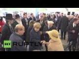 Merkel Commemorates Holocaust Victims At Nazi Death Camp