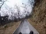 Man Rides Down Great Wall Of China Slide At Incredible Speed