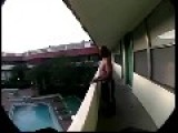 Mad Man Jump From The Balcony!