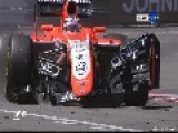 Maldonado And Chilton's Big Crash, F1, Monaco