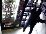 Men Break Vending Machine's Window With Bricks For Sex Toys