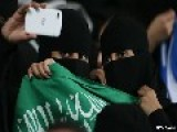 Meanwhile In Saudia Arabia There Is Outrage As Woman Pictured At Football Match